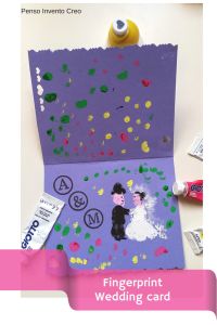 Finger print Wedding card