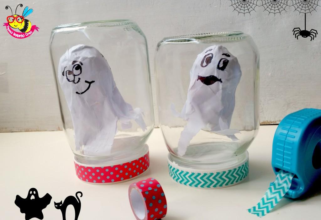 fantasmi di cartapesta in barattolo