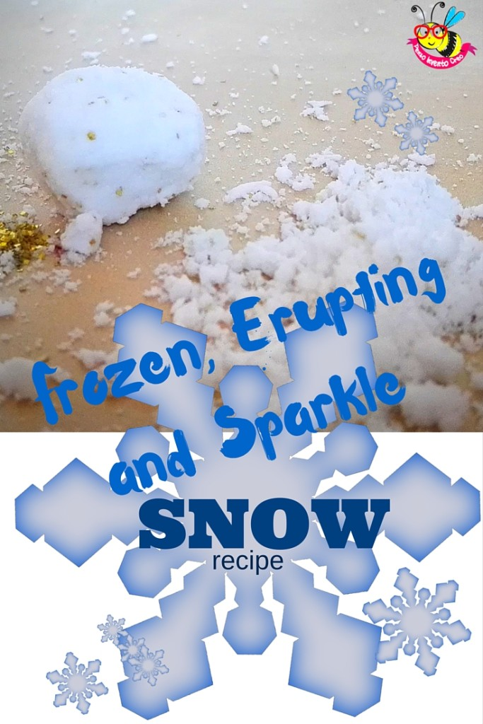 Frozen, Erupting and Sparkle snow recipe