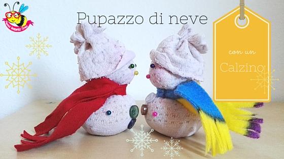 snow man socks pupazzo di neve creato con un calzino e del riso