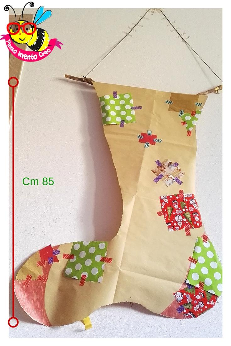 calza befana di carta da pacchi fai da te cm 85