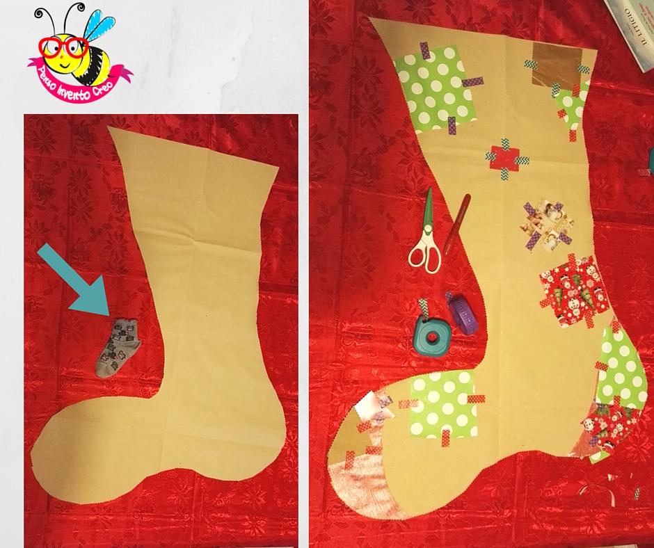 Come creare una calza befana di carta da pacchi fai da te cm 85