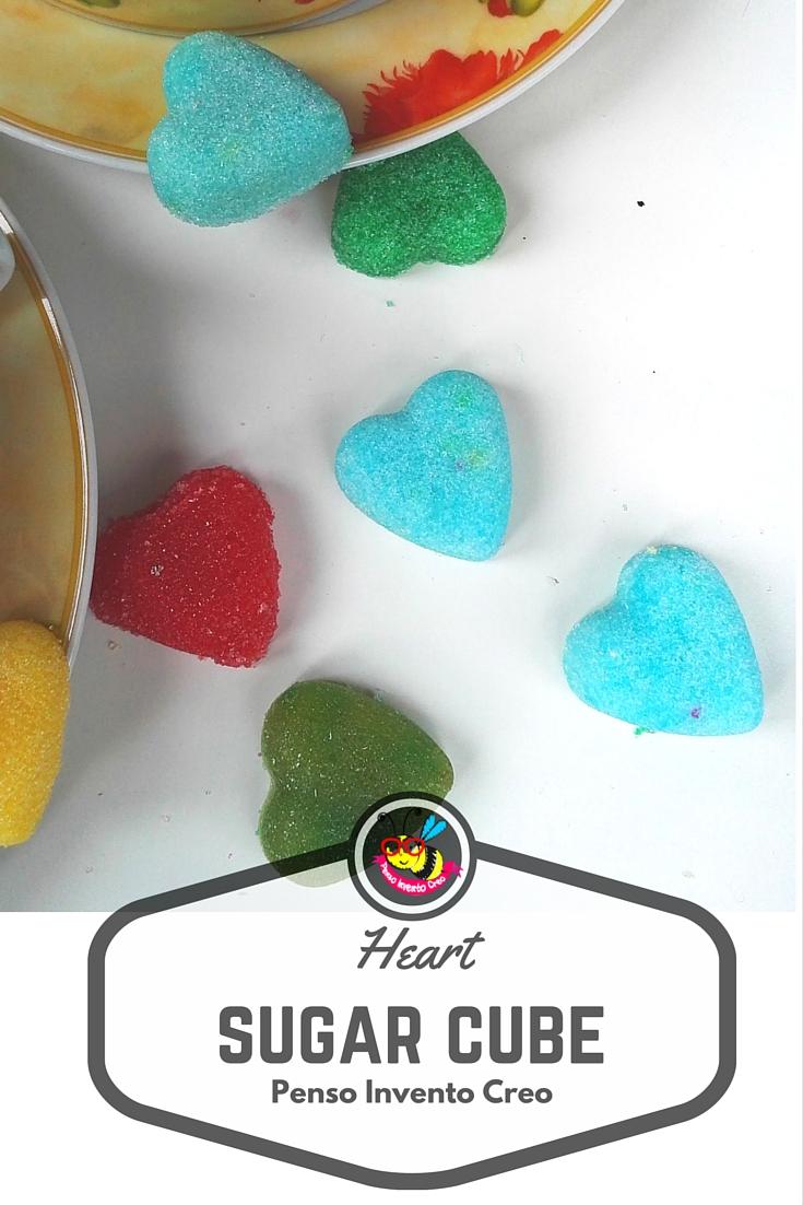 sugar cube heart homemade