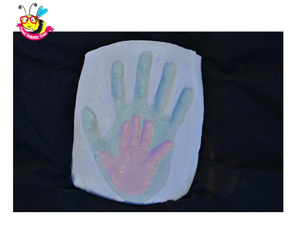 impronta mano di bambino 3d su das