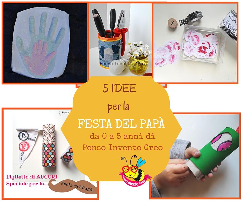 5 idee per la festa del papà, biglietto 3d, rotolo di carta igienica, portapenne collage, baci di carta