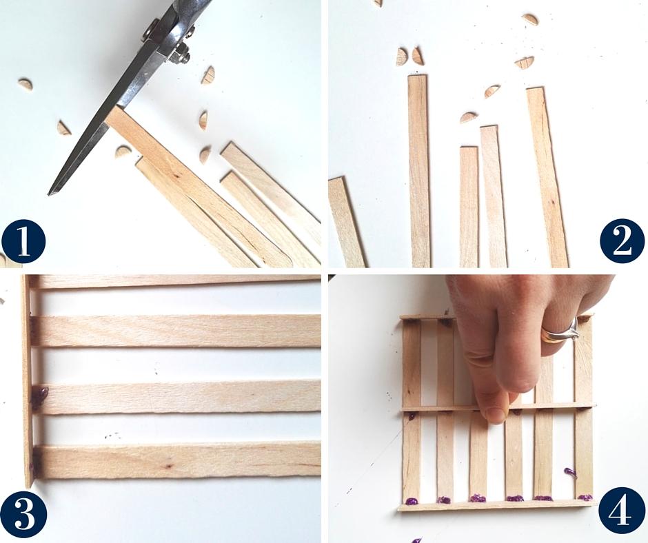 mini pallet sottobicchieri fatti di legno - wooden coaster pallet diy