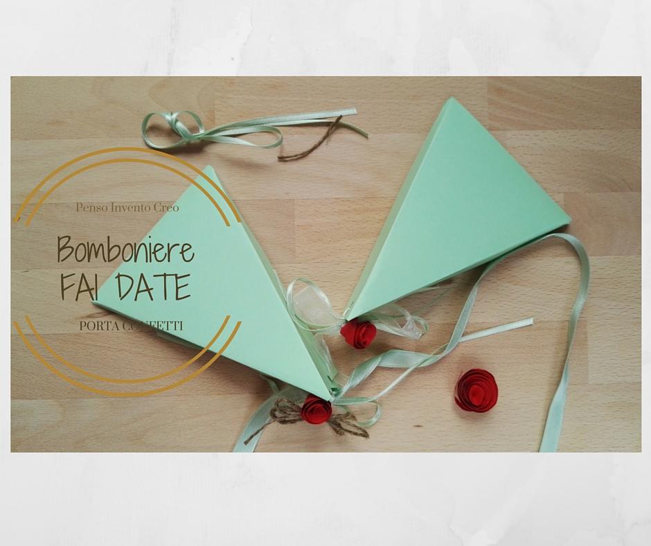 Super Bomboniere fai da te: porta confetti a piramide WZ26