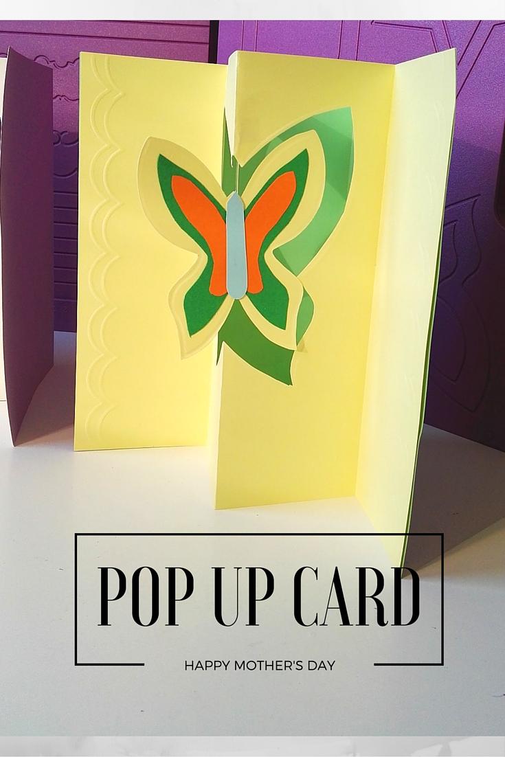 POp UP CARD con farfalla