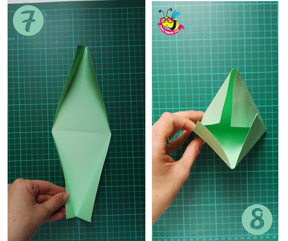 bomboniere fai da te: porta confetti di carta a forma di piramide istruzioni