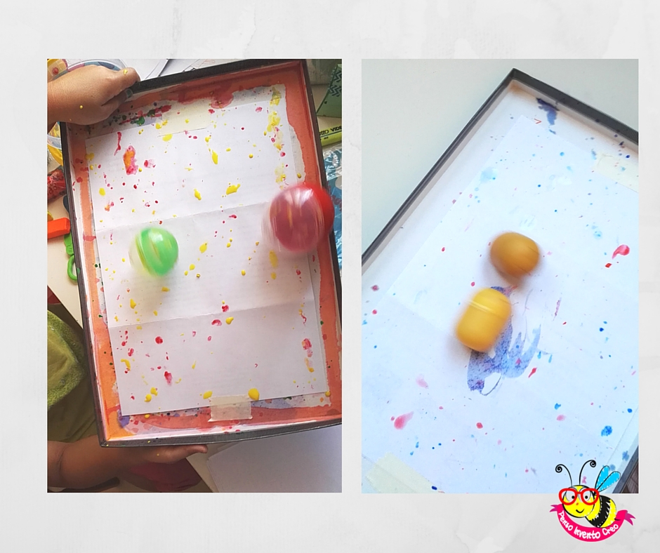ovetti di plastica che spruzzano colore rolling color