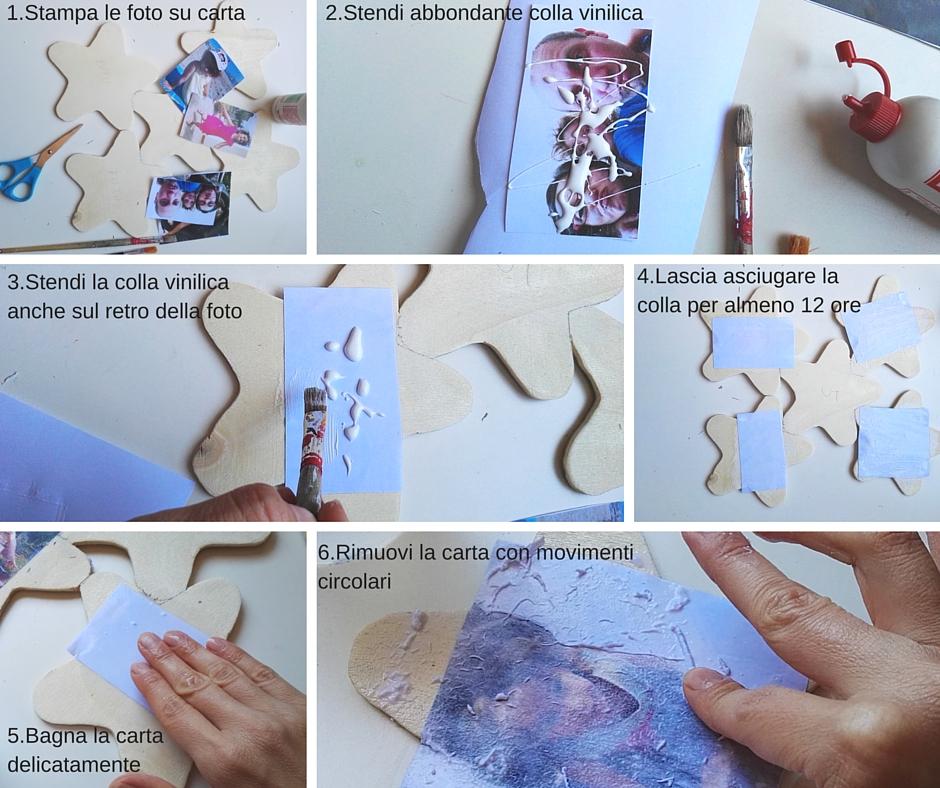 trasferire immagini su legno con la colla vinilica - penso invento creo