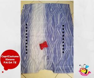 le due cuciture per cucire un kimono semplice da donna