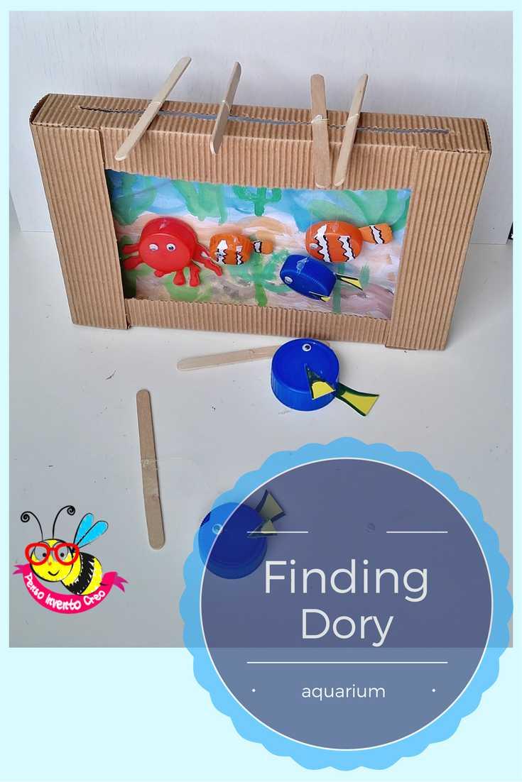 finding dory, acquario di cartone