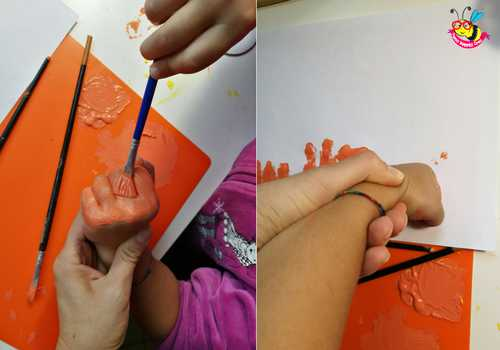 zucche dipinte con le mani