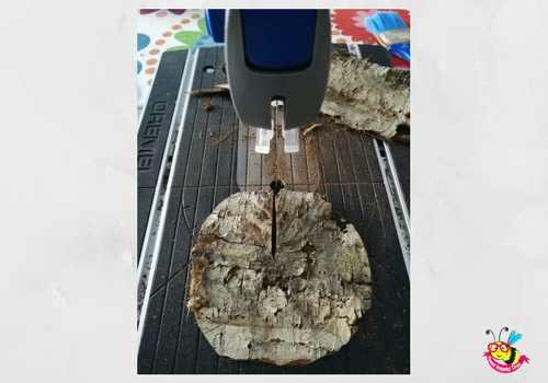 decorare la tavola con il legno