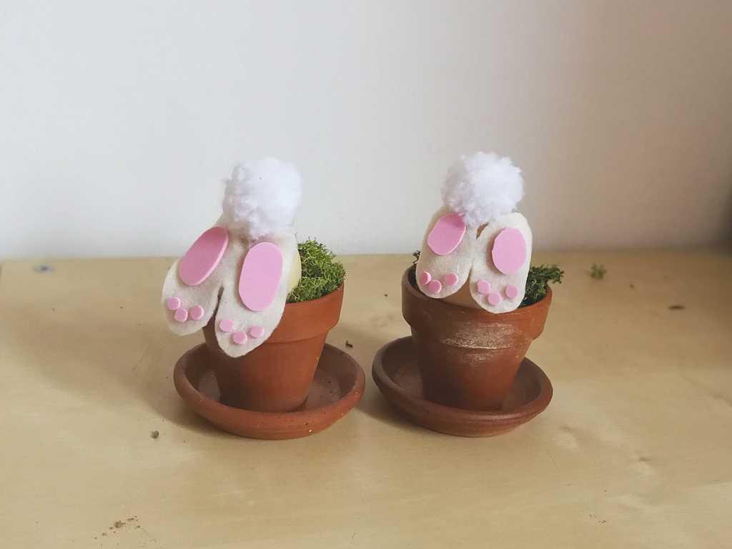 Lavoretti Di Pasqua Coniglietti Con Le Uova Penso Invento Creo