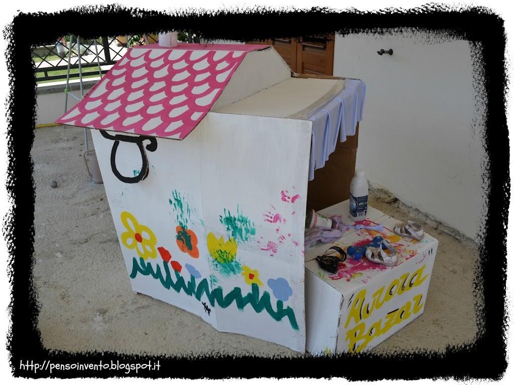 casa di cartone gigante per bambini