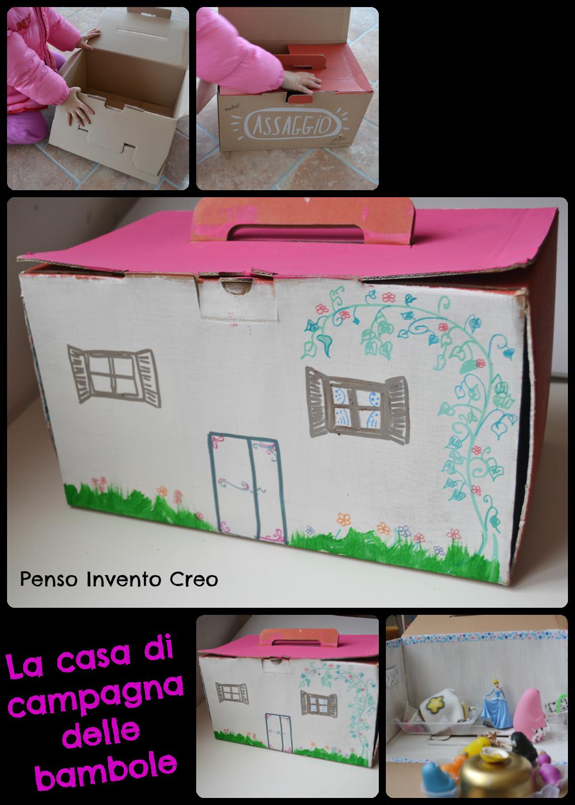 Casa di campagna delle bambole fatta di cartone penso for Prezzi delle case di campagna
