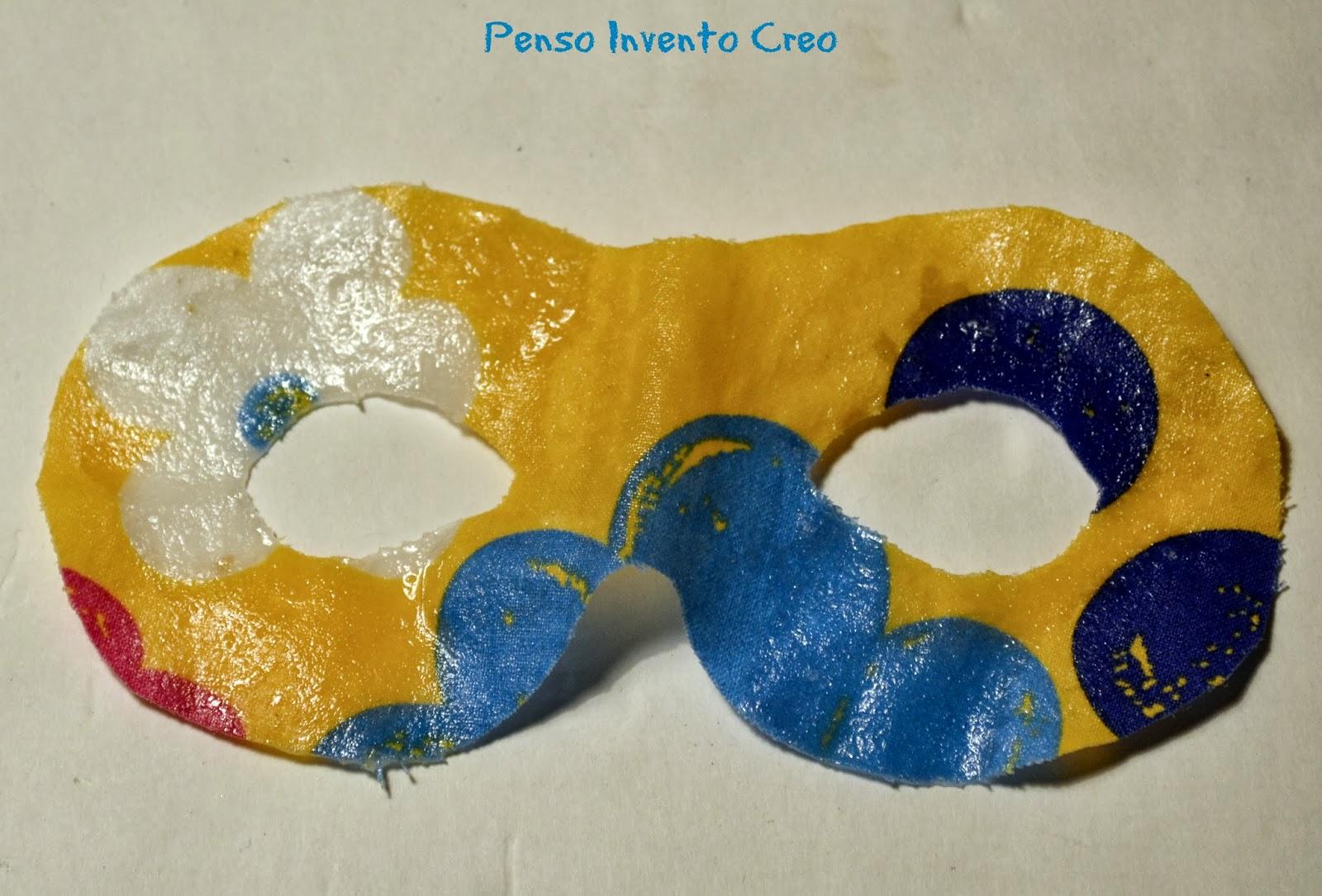 maschera di carnevale per bambini in stoffa
