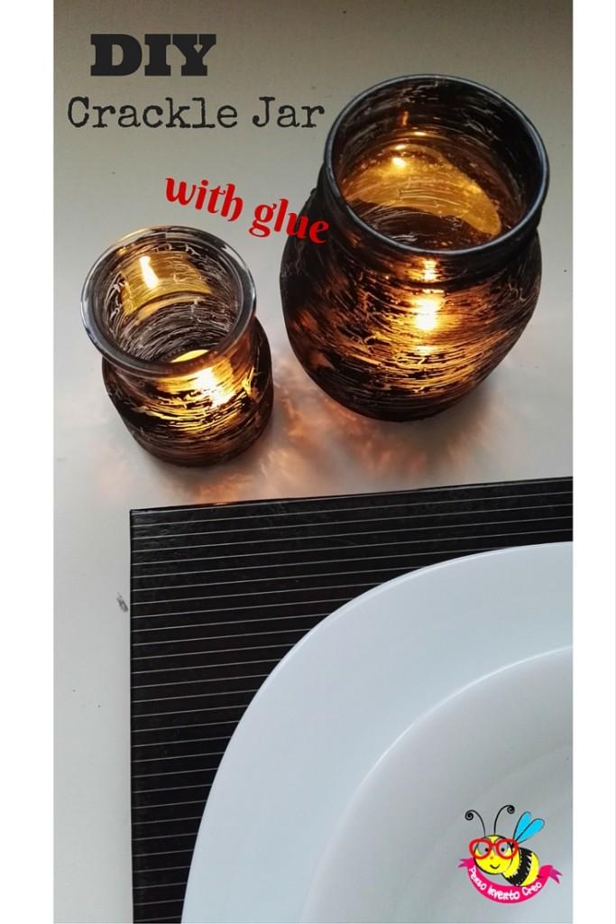 DIY crackle jar