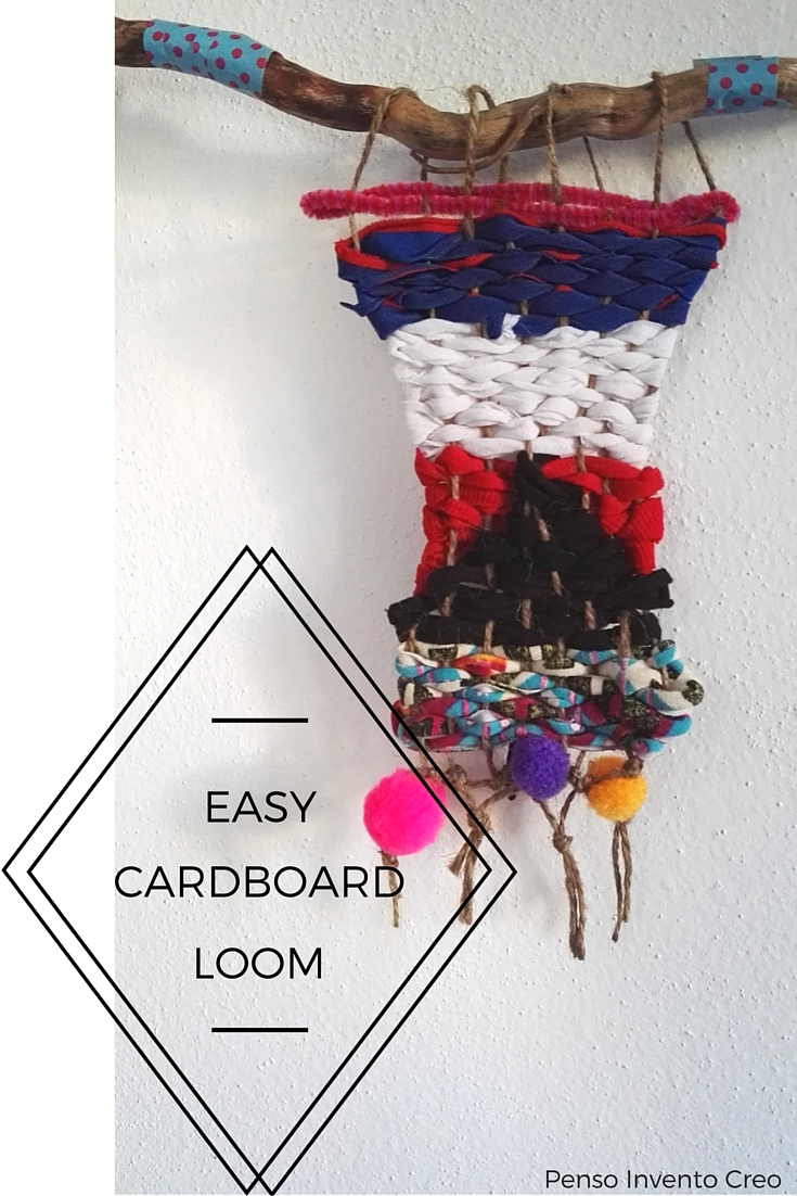 Make a Diy Mini Weaving using a cardboard loom