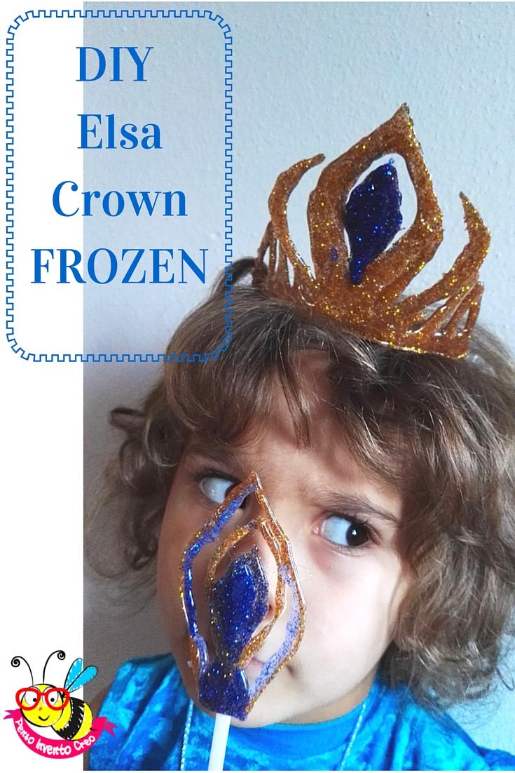 DIY frozen crown using glue gun