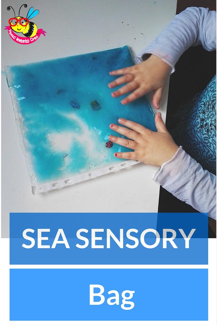 sensory play Montessori, ocean in a bag