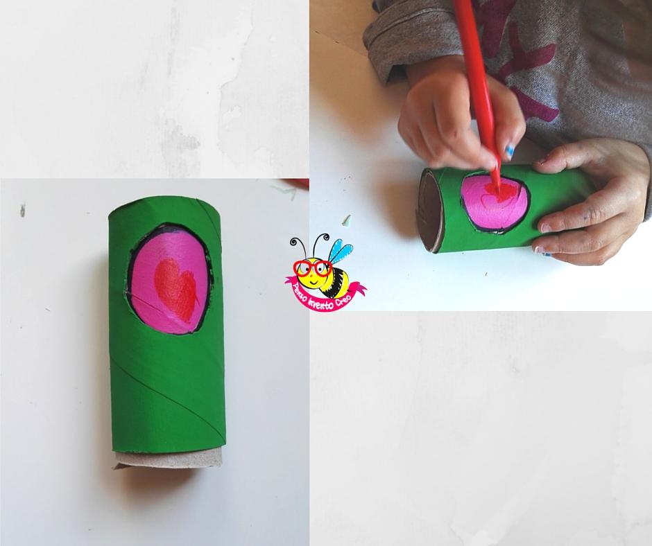 decorazione di un rotolo di carta igienica per la festa del papà