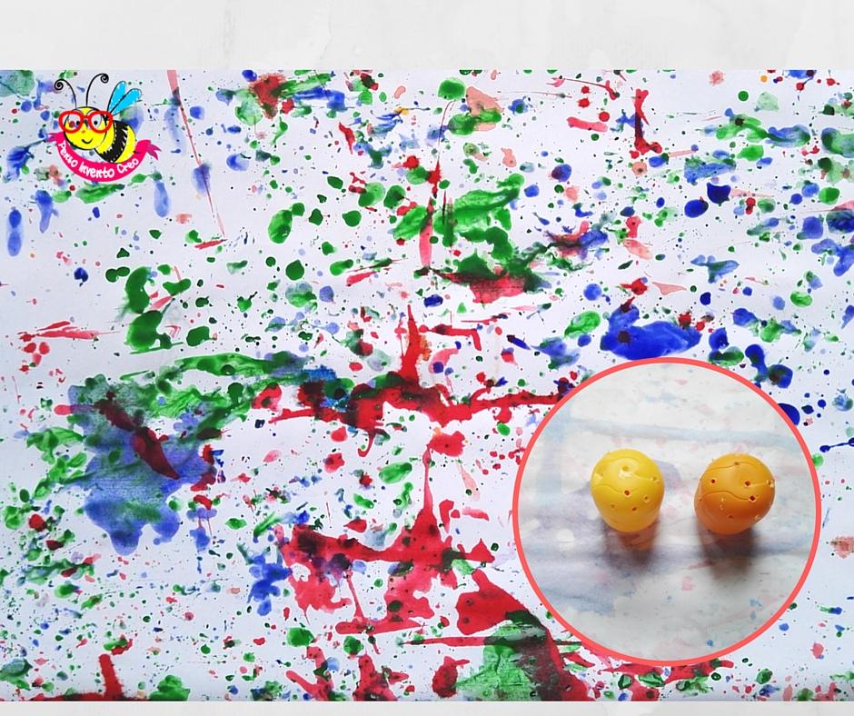 ovetti di plastica che spruzzano colore