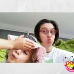 selfie sul trono io e Aurora