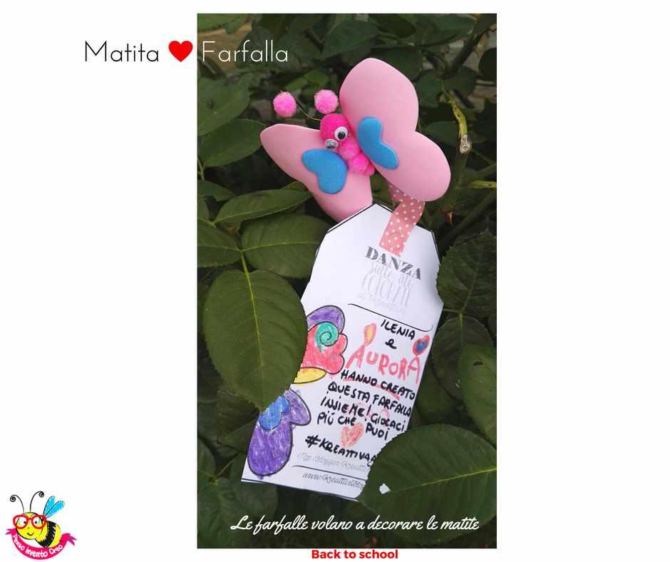 farfalle di gomma crepla o fommy con pom pom e occhi ballerini per decorare le matite a scuola, basta incollarla su un tappo di un pennerello e metterla sulla matita