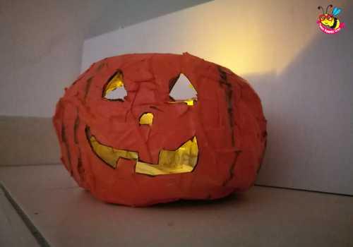 Zucca Halloween Cartapesta.Zucche Halloween 05 Penso Invento Creo