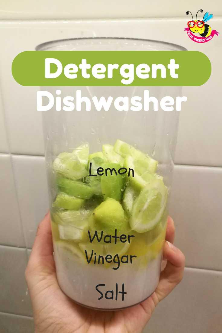 Detergent dishwasher