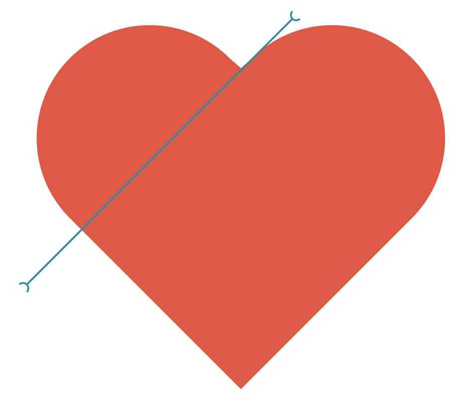 template cuore da stampare