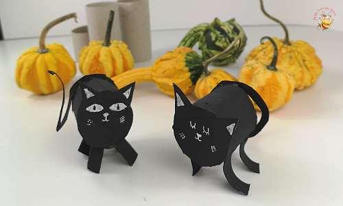 gatto nero di carta
