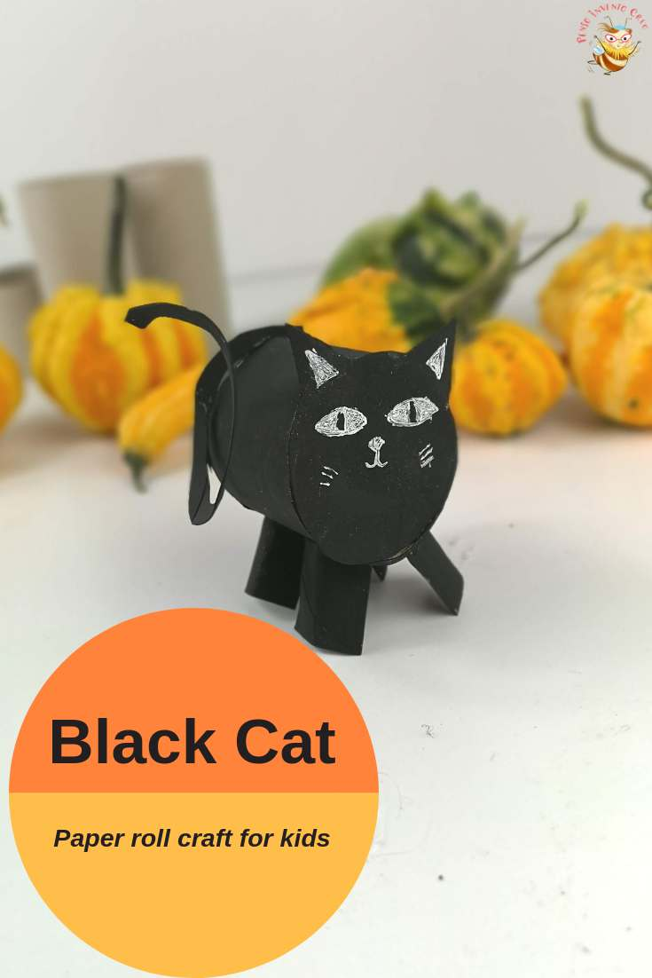 paper roll black cat