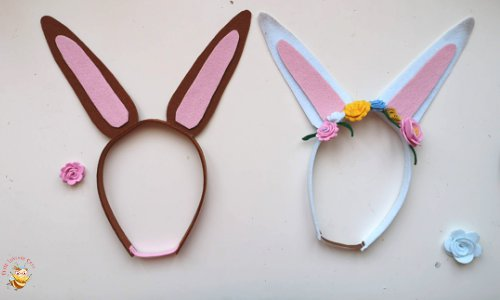 Easter Bunny Ears Flower Headband