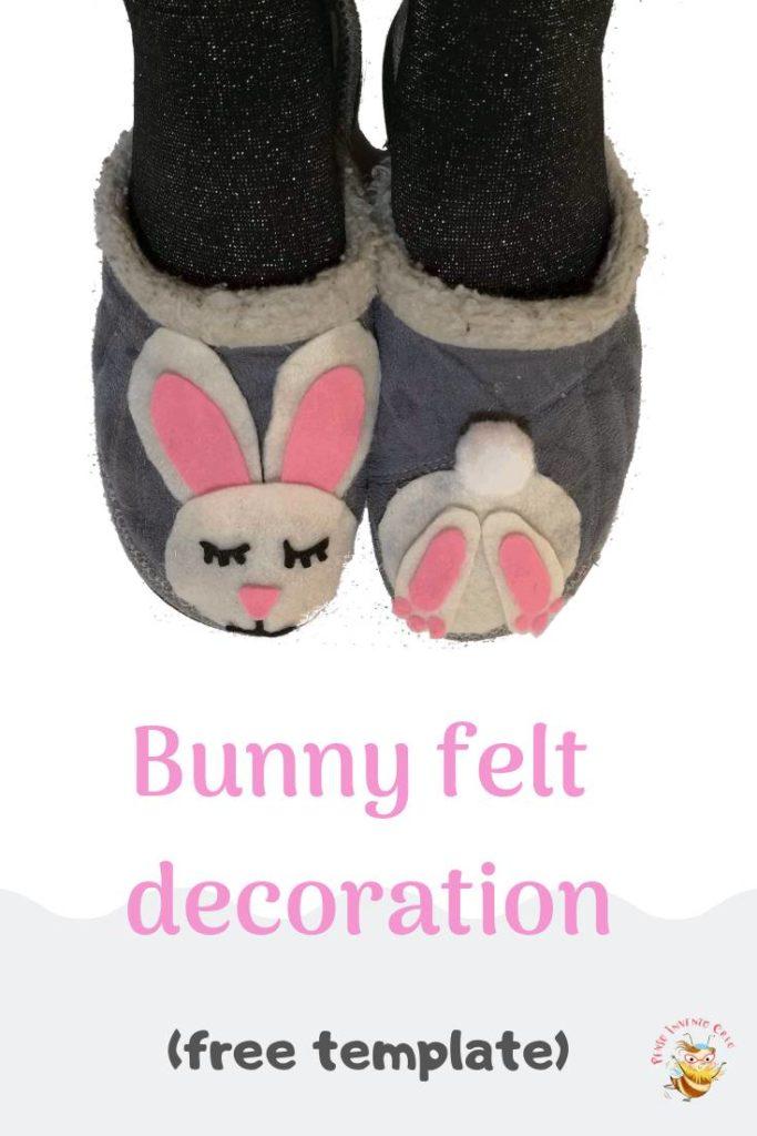 felt bunny free printable template