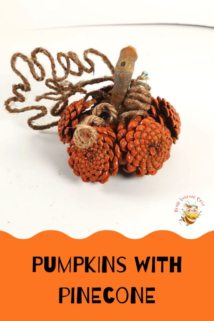 pumpkins and pinecone