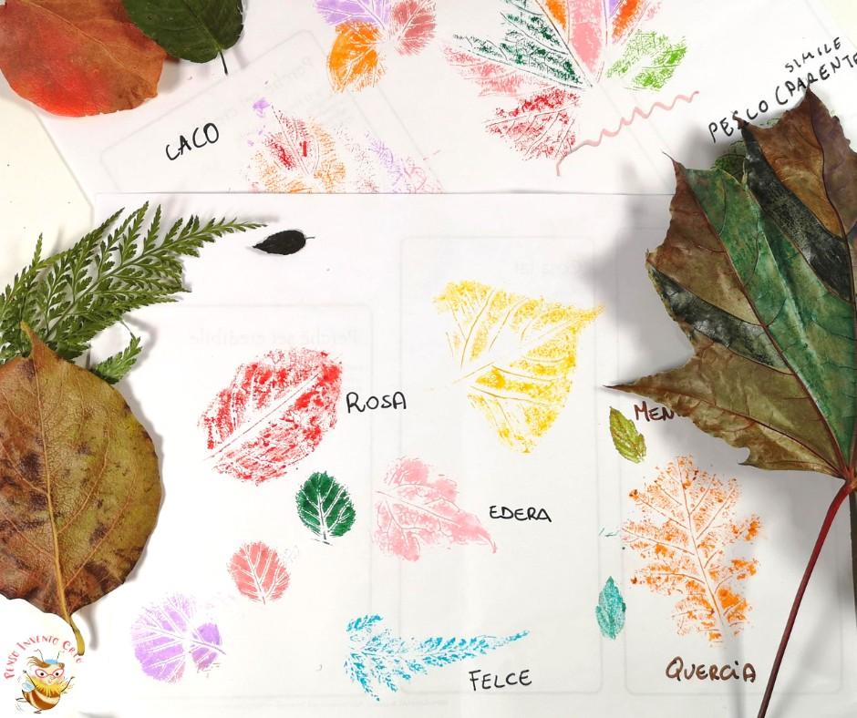 foglie stampate