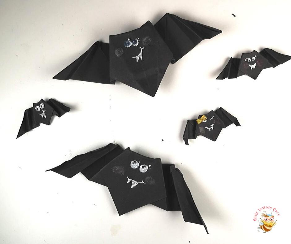 origami paper bat
