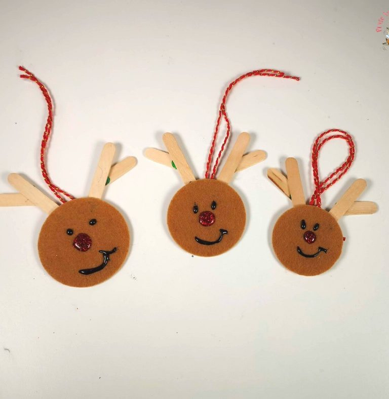 Rudolph the Red-Nosed Reindeer - renna dal naso rosso in feltro facile