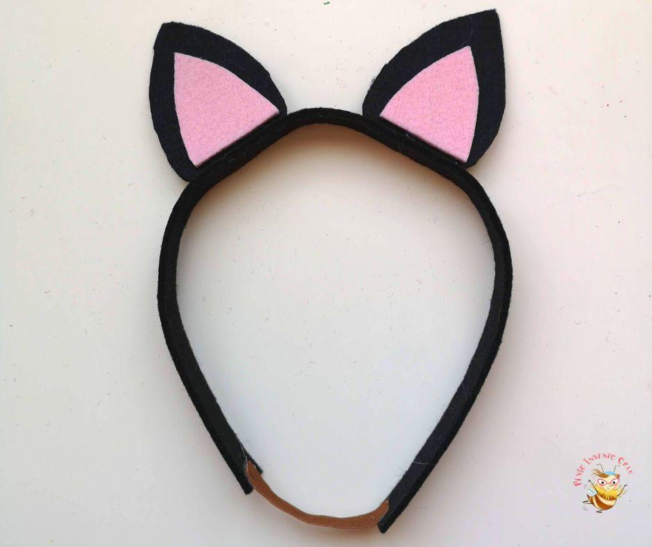 orecchie da gatto in feltro