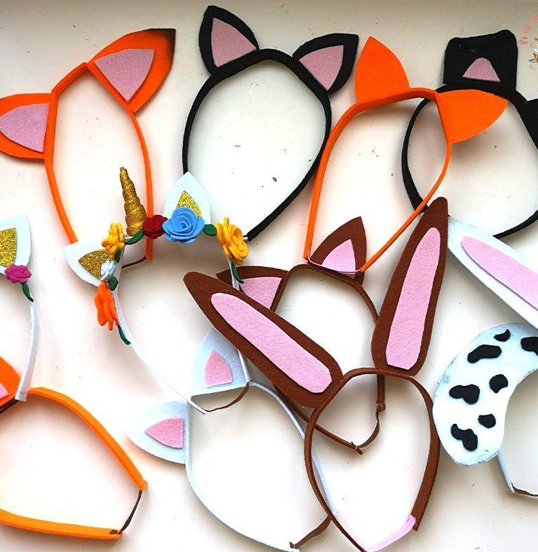 fascia per capelli orecchie animali
