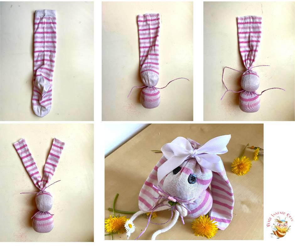 Coniglietto pasquale fatto con un calzino (1)