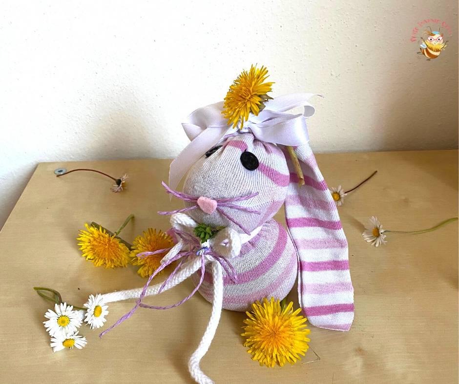 Coniglietto pasquale fatto con un calzino
