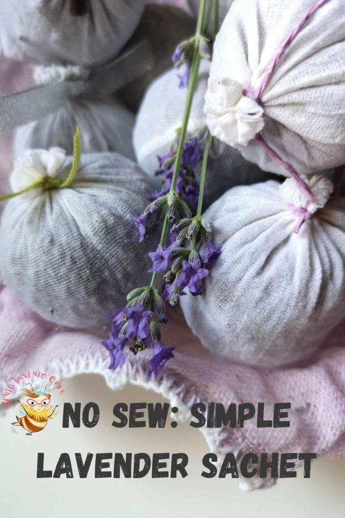 No sew_ simple lavendere sachet