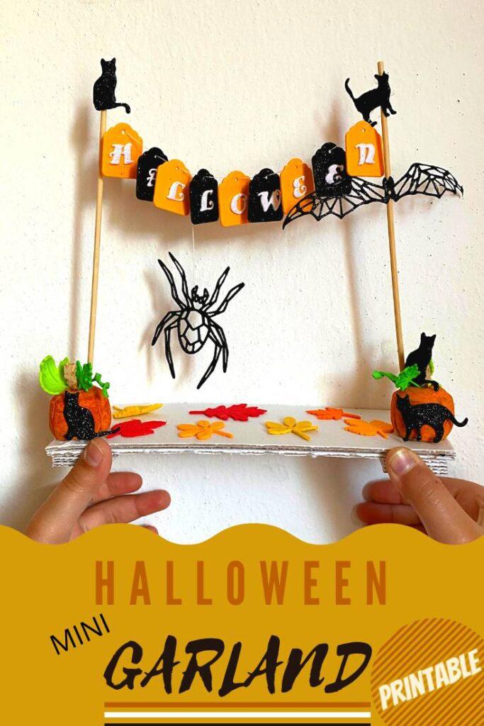 halloween garland mini with printable